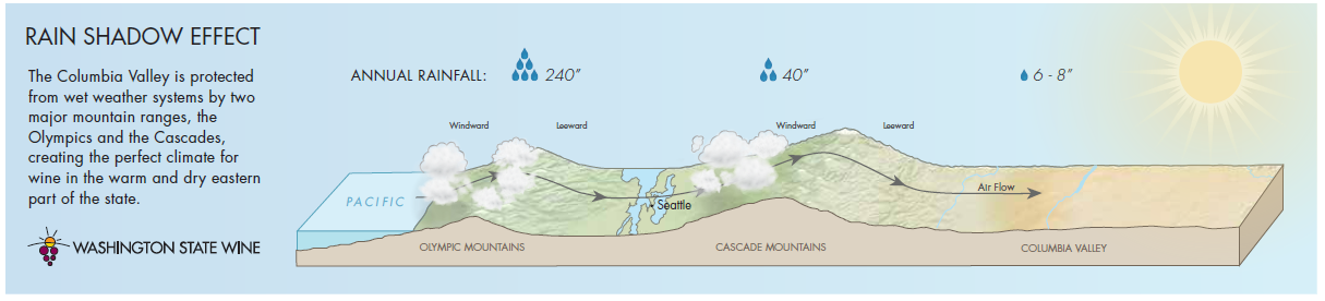 Image showing the Rain Shadow Effect in the Ancient Lakes AVA